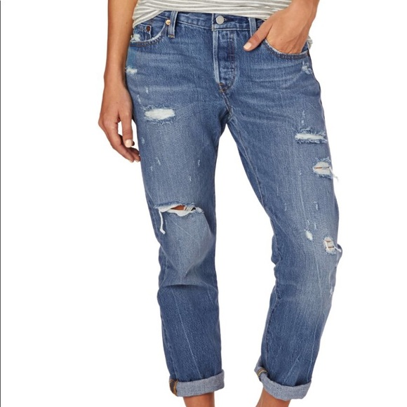 e30db613206 Levi's Jeans | Levis 501 Custom Taper Size 27 Factory Distressed ...